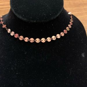 Paparazzi copper circle necklace